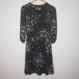 Loft Wild Prairie Print 3/4 Sleeve Mini Dress